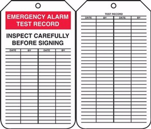 Emergency Alarm Test Record