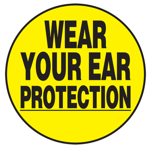 Wear Your Ear Protection Hard Hat Decal