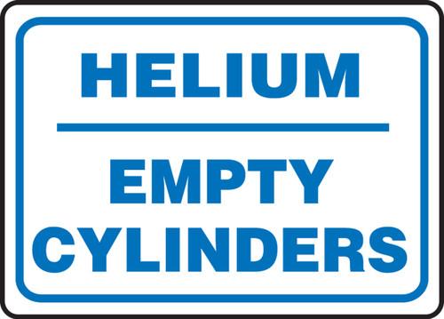 Helium Empty Cylinders - Adhesive Dura-Vinyl - 10'' X 14''