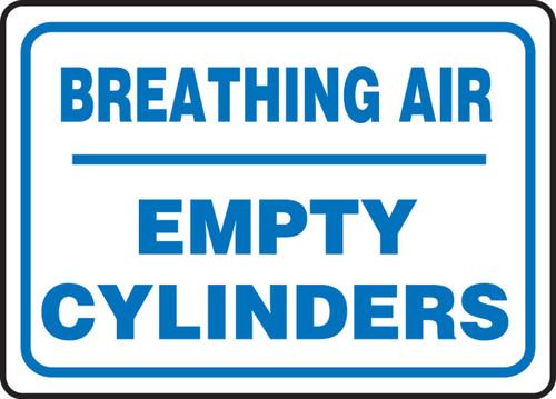 Breathing Air Empty Cylinders - Dura-Plastic - 10'' X 14''