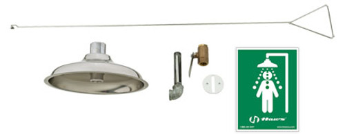 Haws 8163 Drench Emergency Shower- Concealed Ceiling Supply Drench Shower