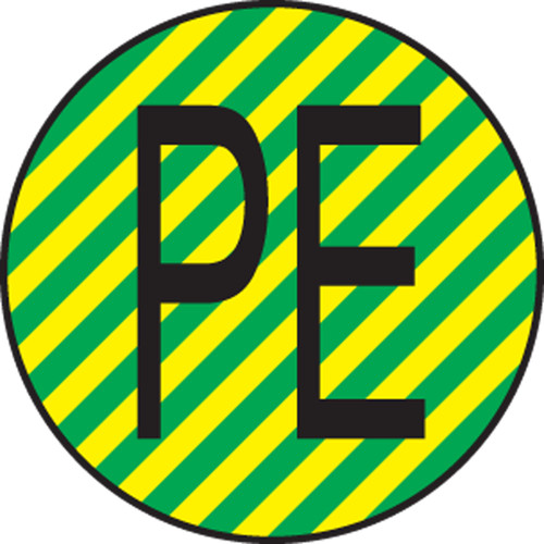 Protective Conductor Label- IEC Electrical Symbol LSCE120