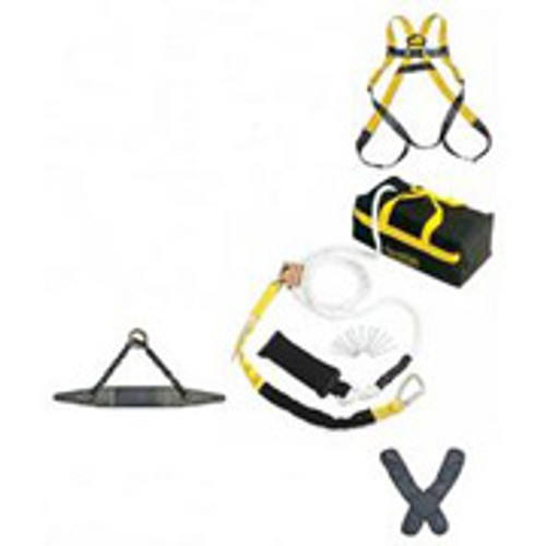 Roofer Fall Protection Kit- Premium- w/ 30 ft Polydac Rope