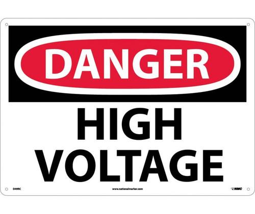 Danger - High Voltage - Plastic - 14'' X 20''