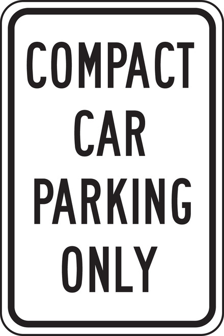 Compact Car Parking Only Sign 1