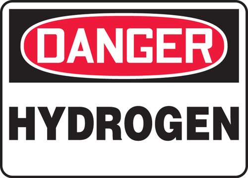 Danger - Hydrogen - Dura-Fiberglass - 7'' X 10''