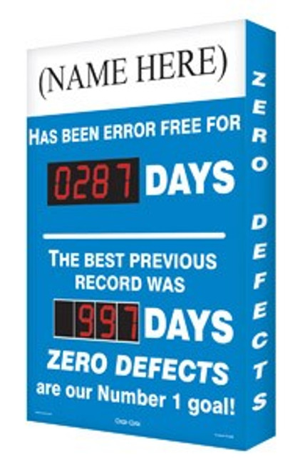 Semi Custom Safety Scoreboard -Has Been Error Free For # Days