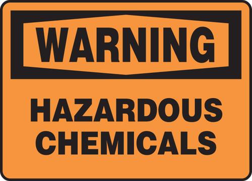 Warning - Hazardous Chemicals