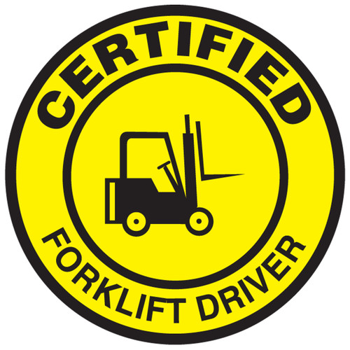 Certified Forklift Driver Hard Hat Decal