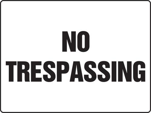 MADM951XAW No Trespassing Sign