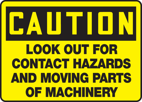 Caution - Look Out For Contact Hazards And Moving Parts Of Machinery