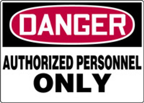 "Danger - Plastic - 7"" X 10"""