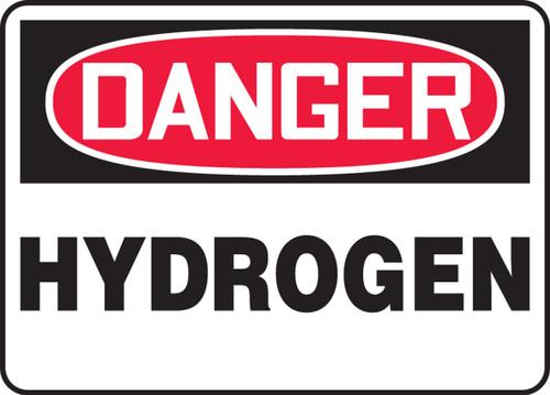 Danger - Hydrogen - Dura-Plastic - 7'' X 10''