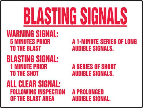 Blasting Signals Warning Signal Sign 1