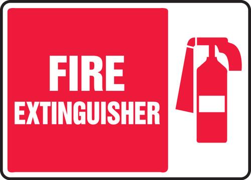 Fire Extinguisher (W-Graphic) - .040 Aluminum - 7'' X 10''
