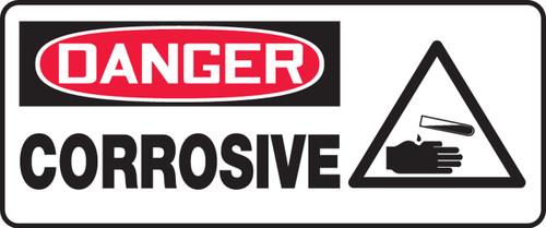 Danger - Corrosive (W/Graphic) - Adhesive Dura-Vinyl - 7'' X 17''