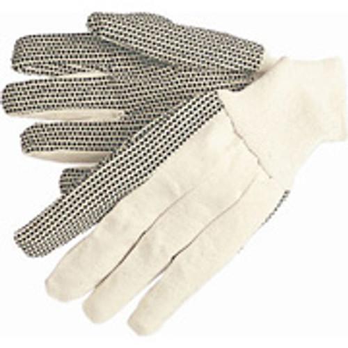 Work Gloves- Canvas Black Dot Gloves- Large