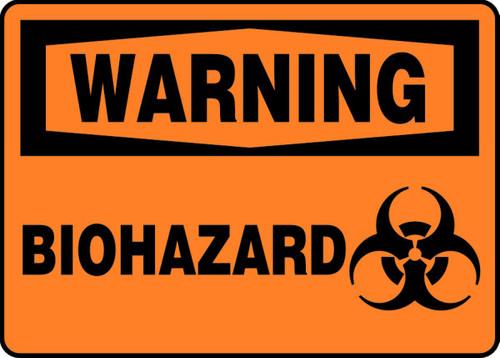 Warning - Biohazard (W/Graphic) - Adhesive Dura-Vinyl - 10'' X 14''