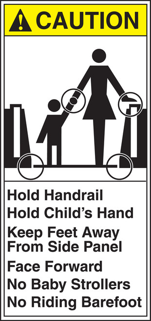 Hold Handrail Hold Child''s Hand Keep Feet Away From Side