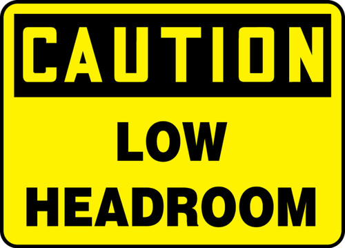 Caution - Low Headroom - Plastic - 14'' X 20''