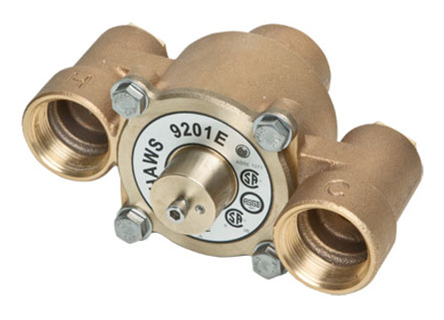Haws 9201E Thermostatic Mixing Valve flows to 31 GPM