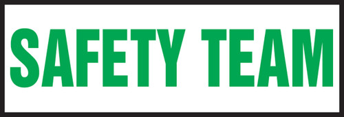 Safety Team Hard Hat Label