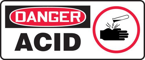 Danger - Acid (W/Graphic) - Adhesive Dura-Vinyl - 7'' X 17''