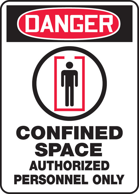 Danger - Confined Space Authorized Personnel Only Sign 2