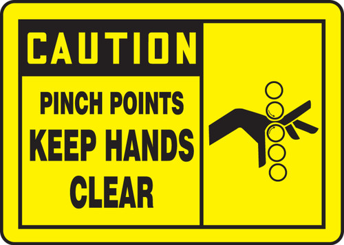 Caution - Pinch Points Keep Hands Clear Sign