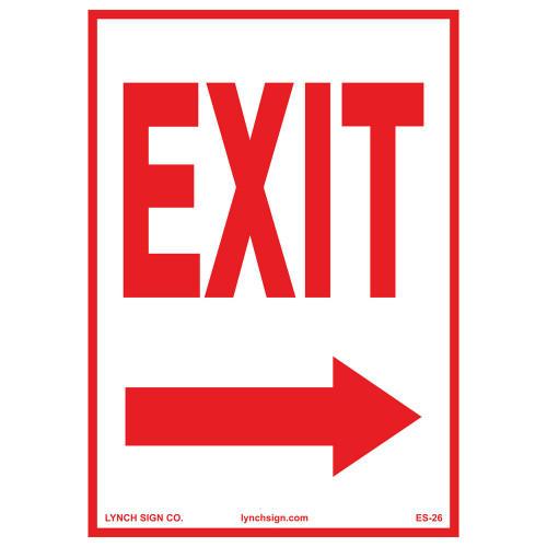 Exit (Arrow Right) - Re-Plastic - 10'' X 14''