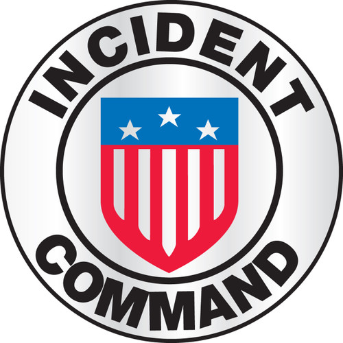 Incident Command Emergency Response Helmet Sticker