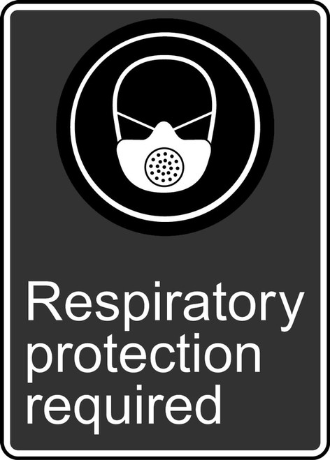 Respiratory Protection Required (Appareil Respiratoire Obligatoire) - Adhesive Vinyl - 14'' X 10''