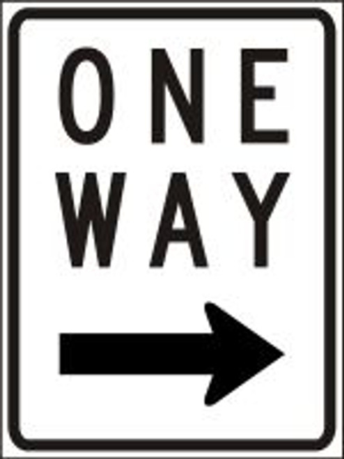 One Way Sign (right Arrow)