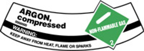 Argon, Compressed Non-flammable Gas, Warning Keep Away From Heat, Flame Or Sparks