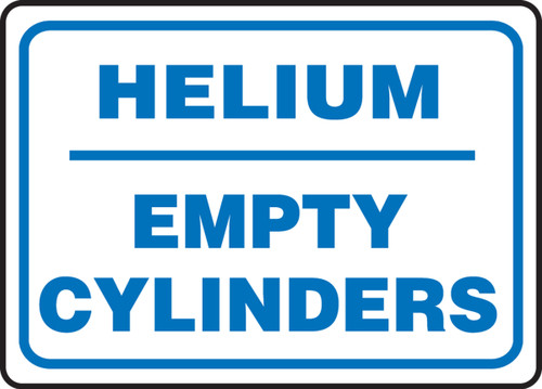 Helium Empty Cylinders - Dura-Fiberglass - 10'' X 14''