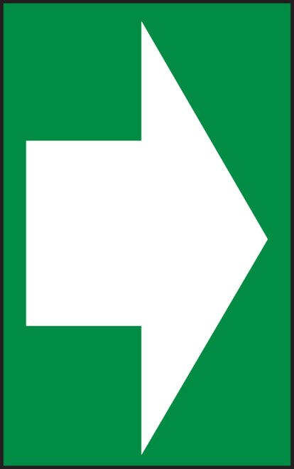 Arrow (White Arrow On Green) - Accu-Shield - 7'' X 5''
