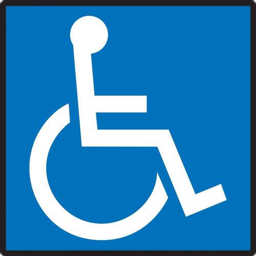 Handicap Symbol - Adhesive Dura-Vinyl - 6'' X 6''