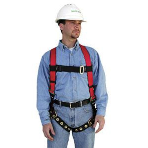 FP Pro Fall Protection Harness by MSA- Vest Style, Tongue Buckle Leg Straps- XL
