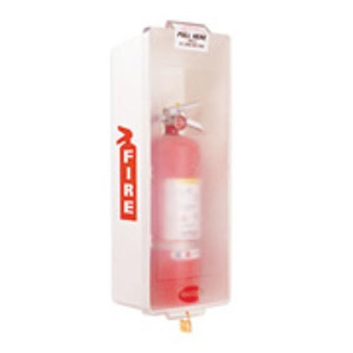 Fire Extinguisher Cabinet- White Plastic- Indoor-