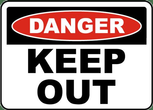 Danger - Keep Away - Adhesive Vinyl - 14'' X 20''
