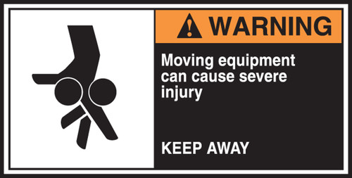 Moving Equipment Can Cause Severe Injury Keep Away CEMA Labels