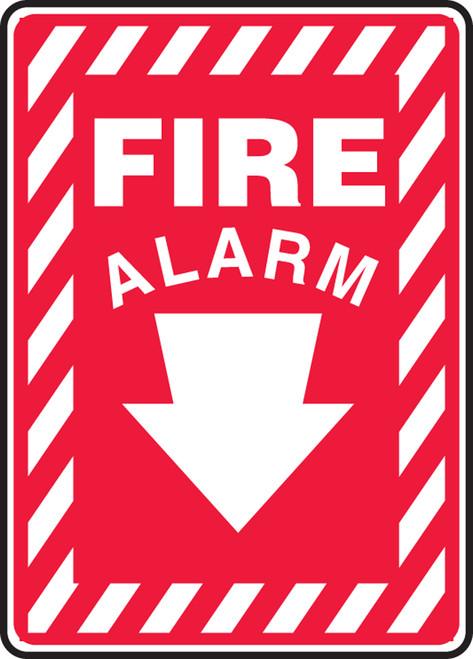 Fire Alarm (Arrow) - Re-Plastic - 14'' X 10''