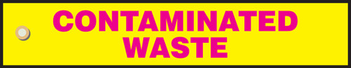 Contaminated Waste- Radiation Slide Sign Insert