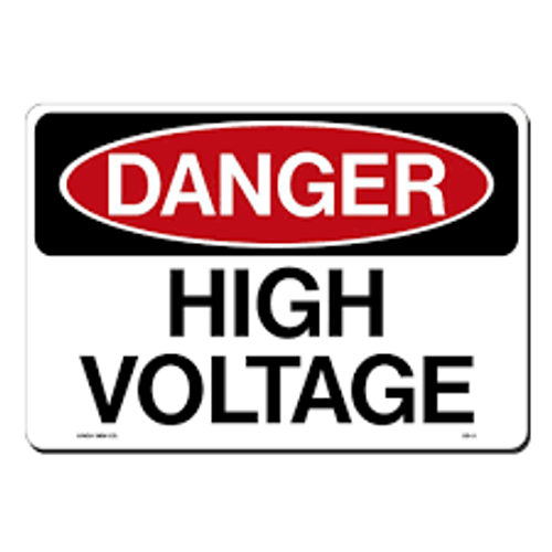 Danger - High Voltage Authorized Personnel Only - Re-Plastic - 7'' X 10''