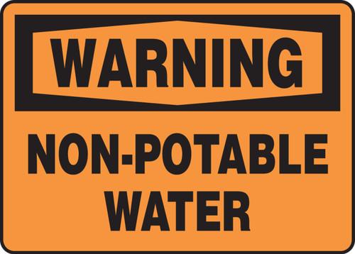 Warning - Non-Potable Water