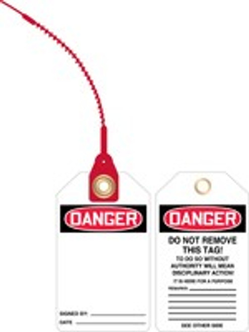 Blank Safety Tag- Loop n Lock Safety Tag