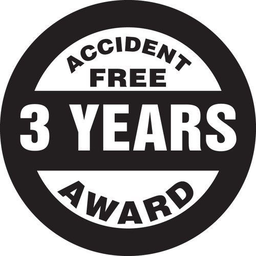 Accident Free Award 3 Years