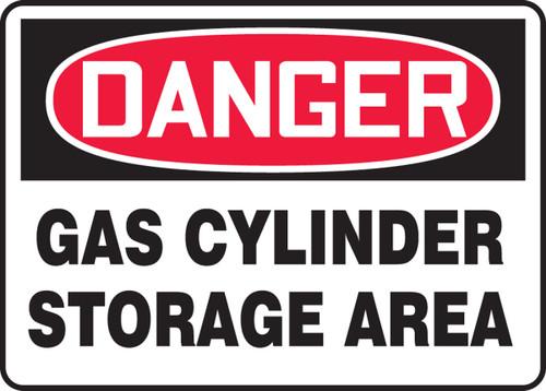 Danger - Gas Cylinder Storage Area - .040 Aluminum - 10'' X 14''