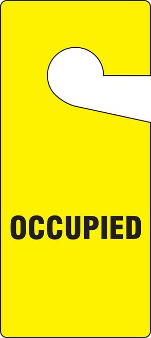 Occupied Door Knob Hanger Tag