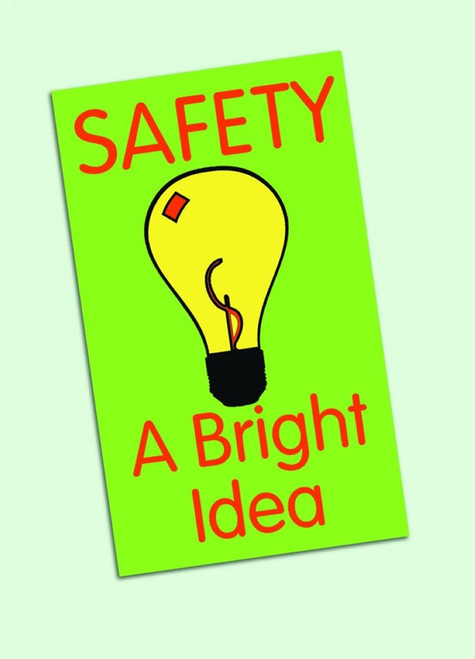 Safety Message Floor Mat- Safety A Bright Idea (w/graphic)